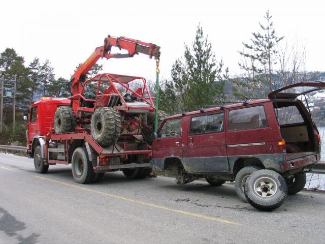 Arnfinn Mork, Bergningsbil.jpg